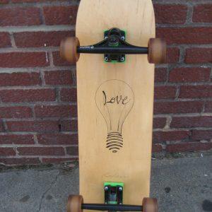 'Love Light' custom skateboard