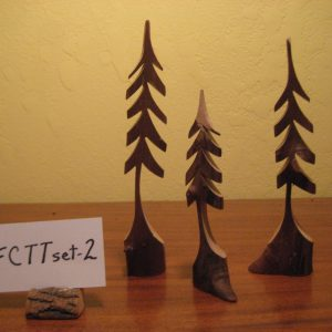 Set of 3 Sculpted Tiny Trees  #FCTTset-2