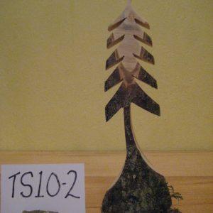 Sculpted Wood Tree #TS10-2
