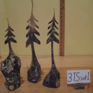 Custom Sculpted Set of Trees  #3TSset-1