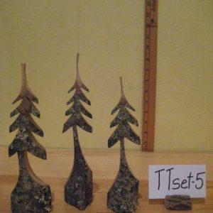 Set of 3 Tiny Sculpted Trees  #TTset-5