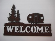 Camper WELCOME sign