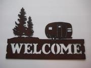 Camper WELCOME sign