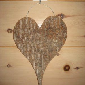 Poplar bark heart #1