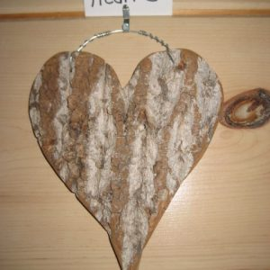 Poplar bark heart #5