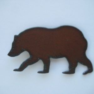 Metal bear magnet