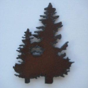 Metal double tree magnet