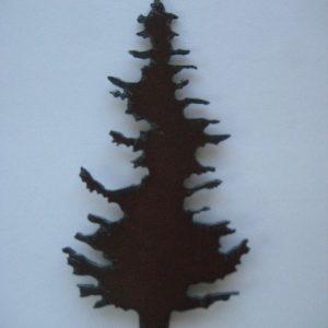 Metal tree magnet