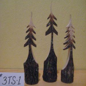 Set of 3 Sculpted Trees  #3TS1-set